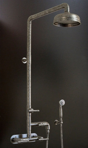 Wall Mount Exposed Shower w/Rainhead & Handshower