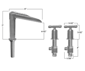 Wherever Widespread Deck Mount Lavatory Faucet