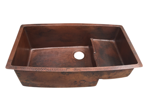Waterfall Undermount Copper Kitchen Sink