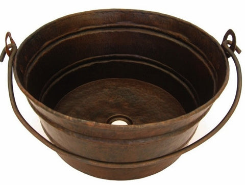 Copper Bucket Sink