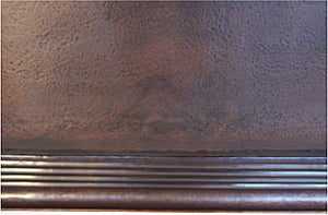 "72"" Royal Hammered Copper Bathtub"