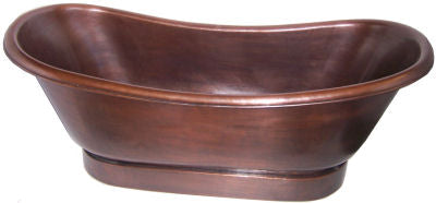 "70"" Smooth Copper Bathtub"