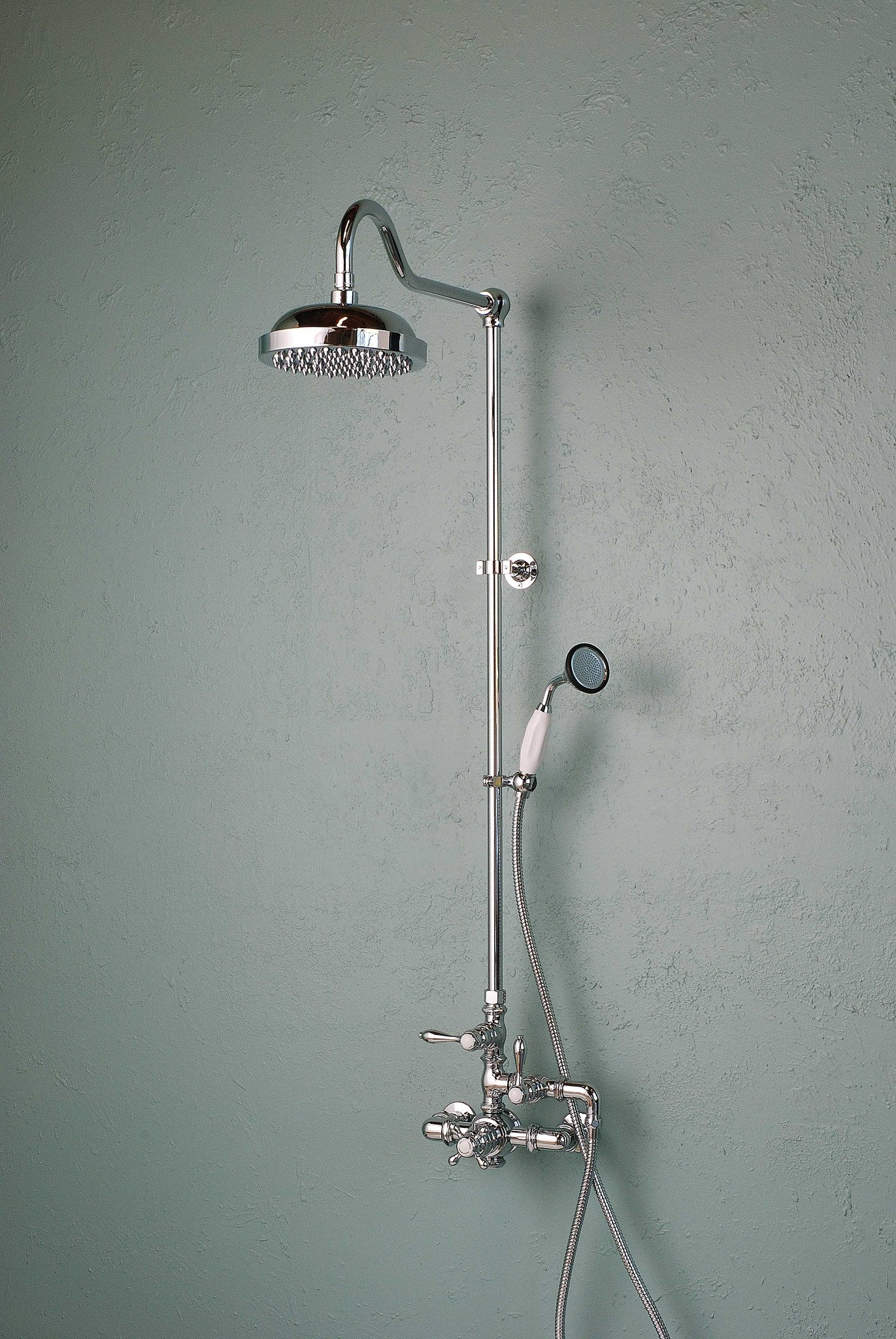 Exposed Thermostatic Shower Set with Handheld Shower