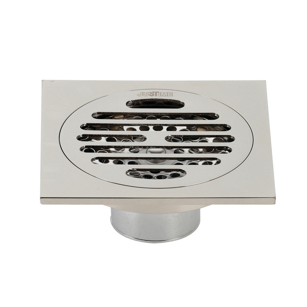 "Watercourse Symmetric 4"" Square Grid Shower Drain"