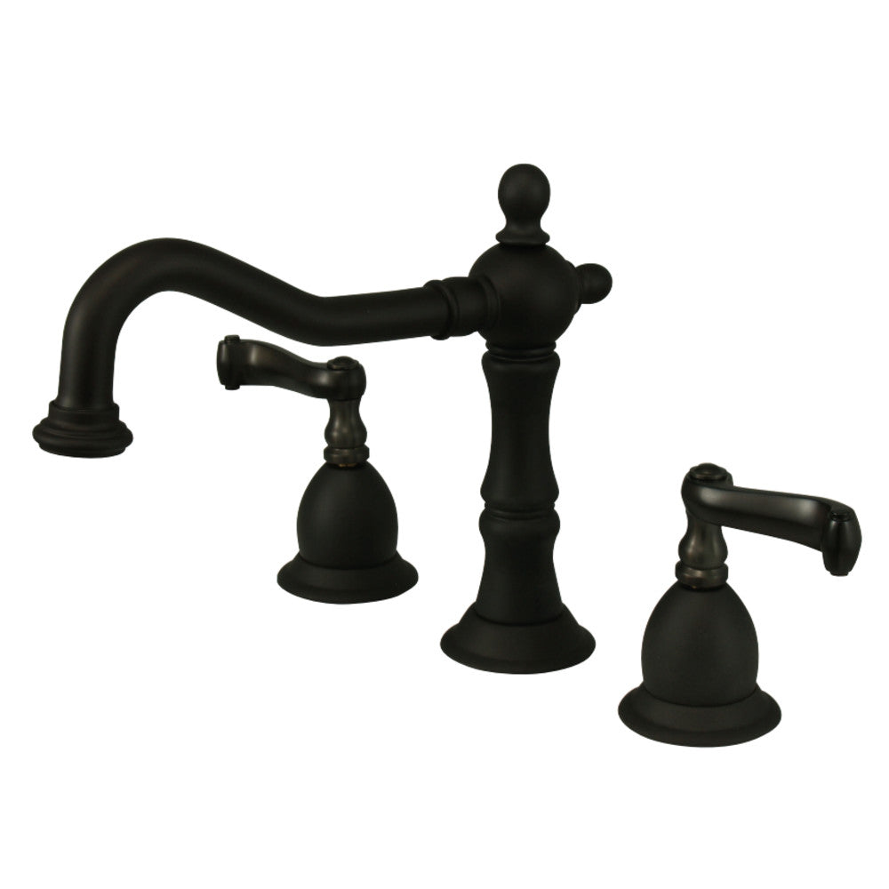 Heritage 8 in. Widespread Bathroom Faucet Lever Handles