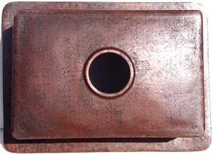 "26"" Copper Kitchen Single Basin Sink"