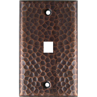 Phone Jack Hammered Copper Switch Plate Cover
