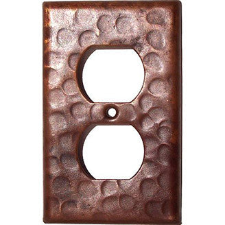 Single Duplex Hammered Copper Switch Plate Cover