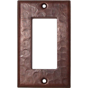 Single GFI Hammered Copper Switch Plate Cover