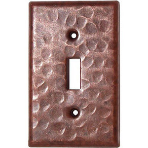 Single Toggle Hammered Copper Switch Plate Cover