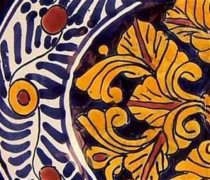 "17"" Oval Marigold Drop In Talavera Sink"