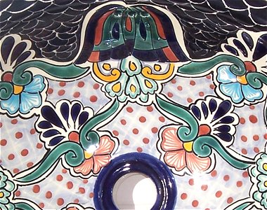 "17"" Oval Turtle Ceramic Talavera Sink"