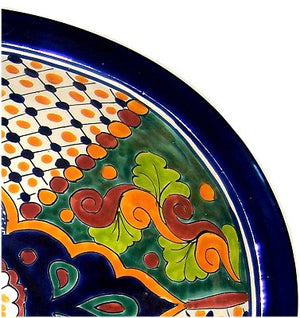 "17"" Oval Janitzio Drop In Talavera Sink"