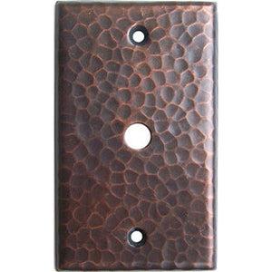 TV Cable Hammered Copper Switch Plate Cover