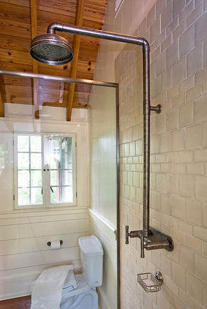 Wall Mount Exposed Shower w/Rainhead
