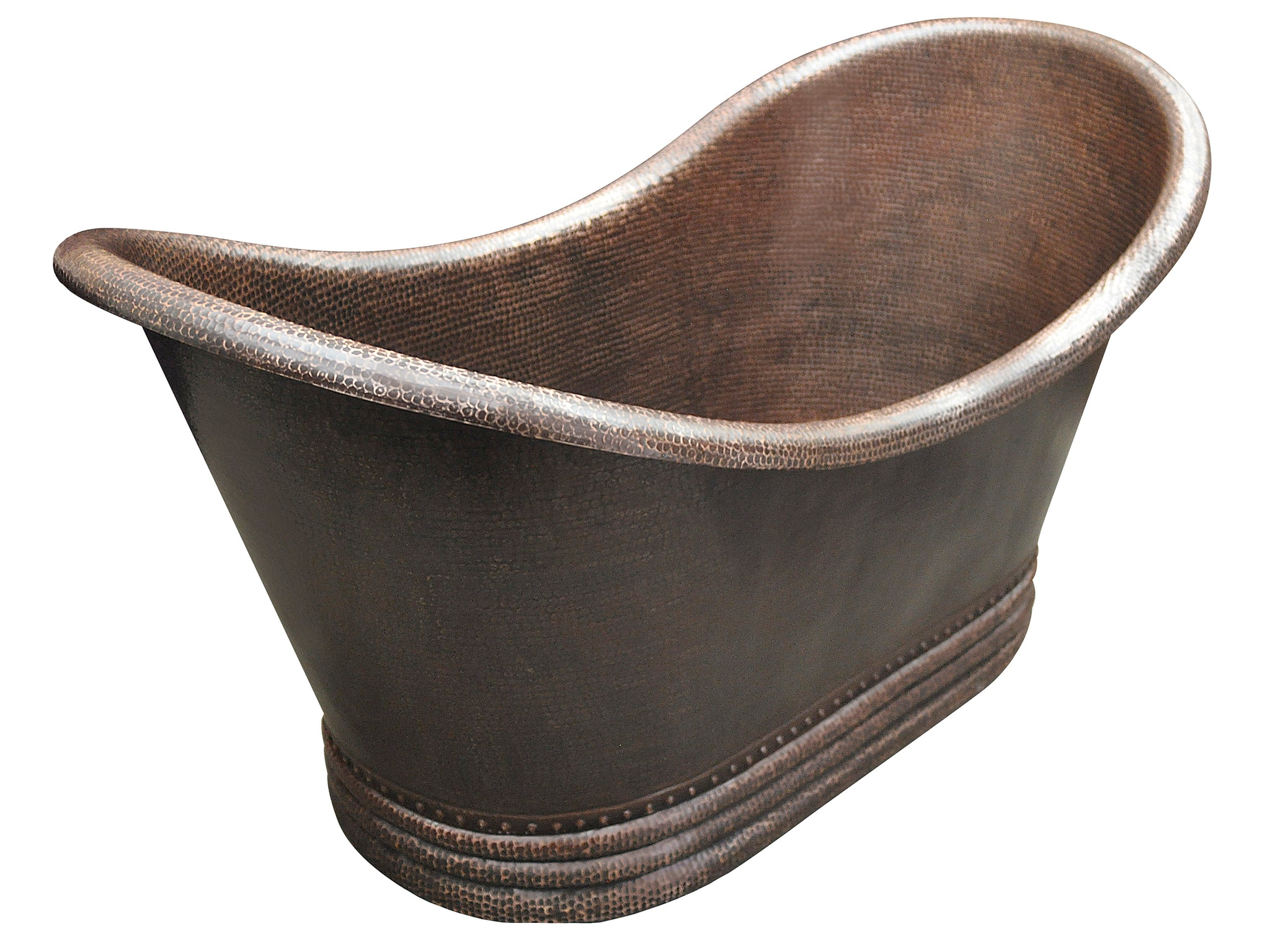 Double Slipper Copper Bathtub