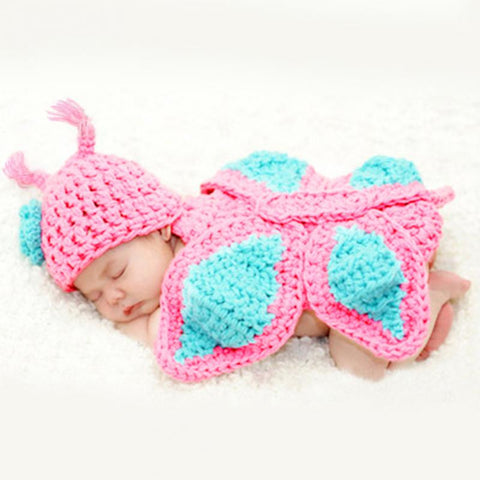 Adorable Butterfly Crochet Set Photography Prop - ScooterBugDesign.com