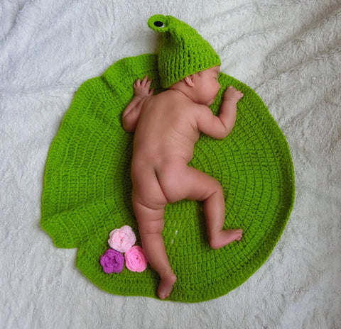 Crochet Little Frog Prince with Lily Pad & Water Lilly Set - ScooterBugDesign.com