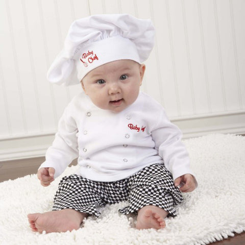 3PCS Baby Chef - Hat + Top + Pants