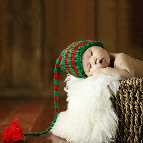 Crochet Christmas Red & Green Stocking cap