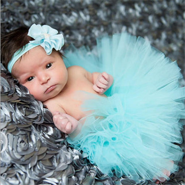 Adorable Newborn Infant Baby Girl Tutu with Matching Headband