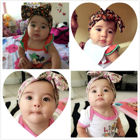 6pc Spectacularly cute Rockabilly headband bandana for Newborn Baby Girl