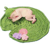 Crochet Little Frog Prince with Lily Pad & Water Lilly Set