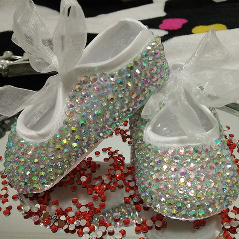 Baby Bling Newborn Infant Baby Girl Ballerina Booties Shoes - ScooterBugDesign.com