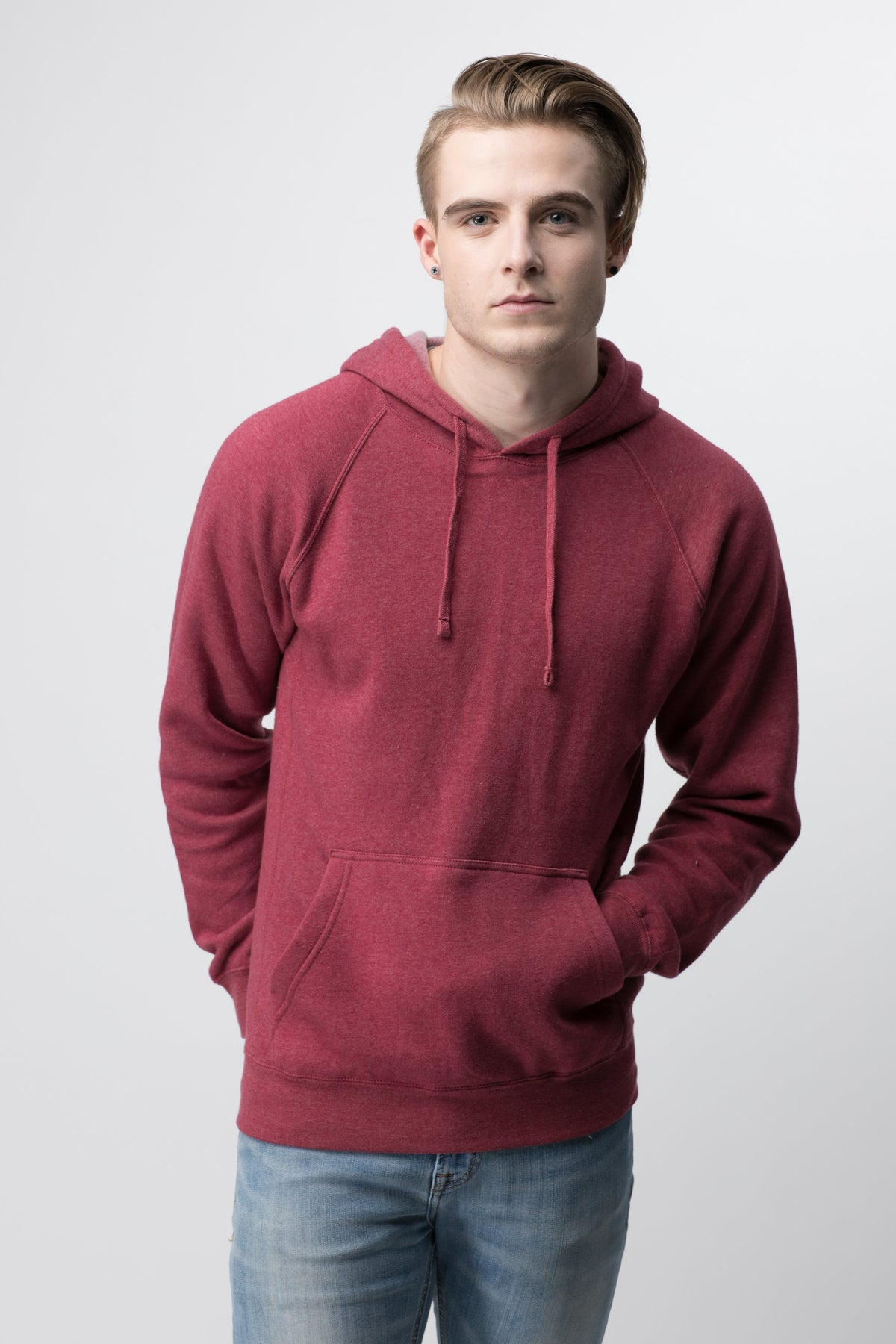 Sale | Classic Brave Hoodie | Unisex | Crimson - Authentic Brave Apparel