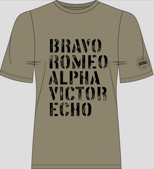 Bravo | Unisex T-shirt | Army Green - Authentic Brave Apparel