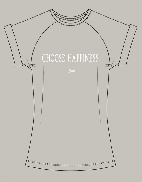 Choose Happiness | Women's Muscle Tee | Sage - Authentic Brave Apparel