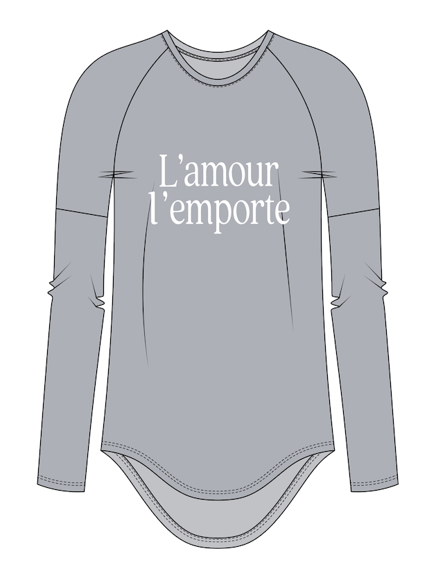 L'amour l'emporte | Women's Long Sleeve - Authentic Brave Apparel