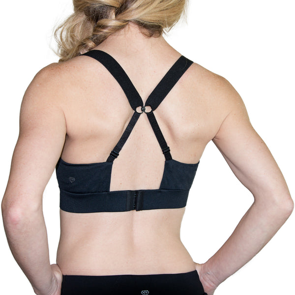Fit For Barre Adjustable Sports Bra with criss cross back.
