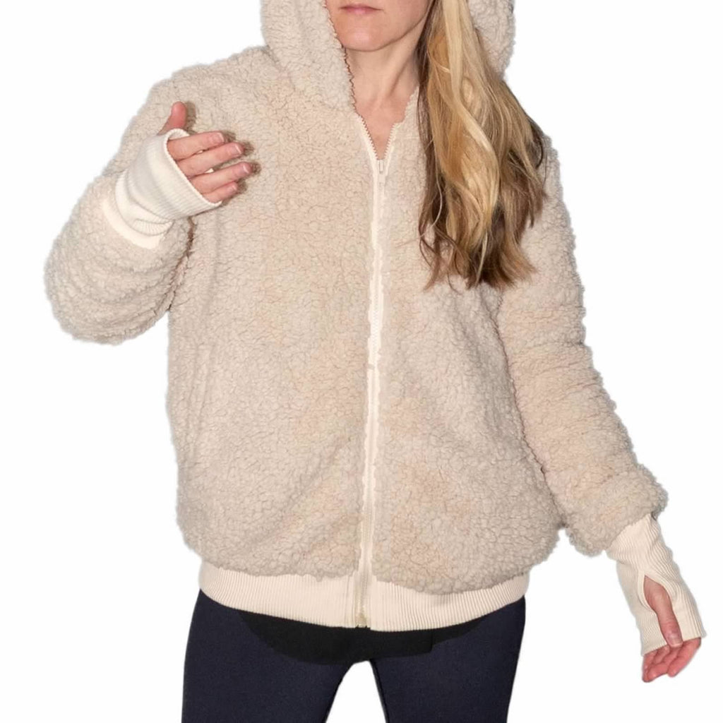 Teddy Bear Hooded Bomber Jacket