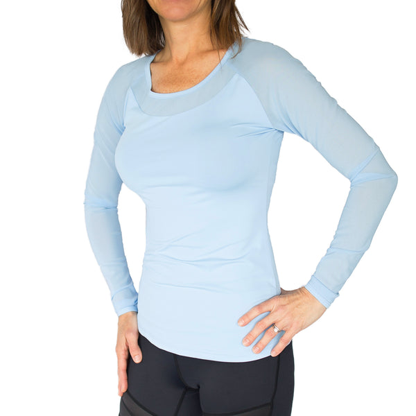 Fitted Long Mesh Sleeve