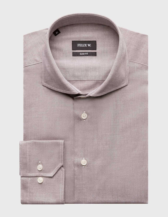 Hemd Super Oxford. Braun