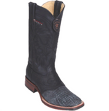 Men's Los Altos Teju Lizard Boots With Saddle Wide Square Toe (Rubber Sole)