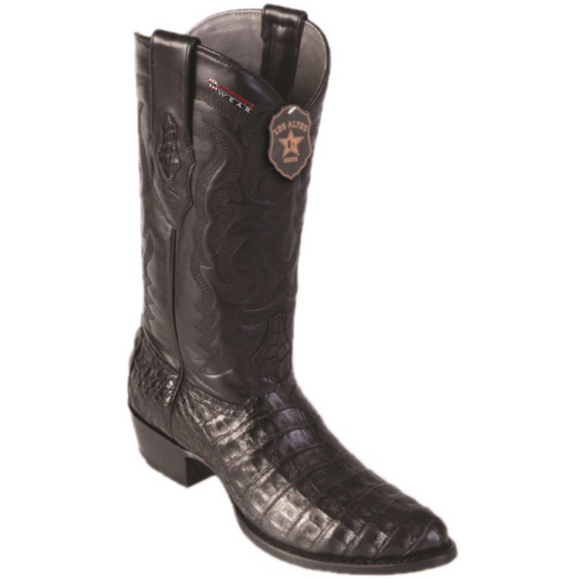 Men's Los Altos Caiman Belly Boots Round Toe