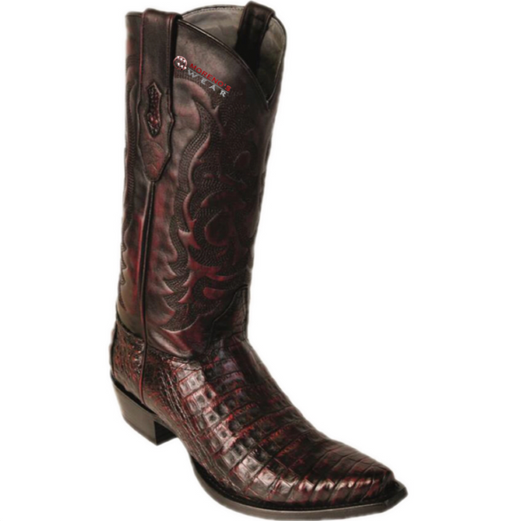 Men's Los Altos Caiman Belly Boots Snip Toe