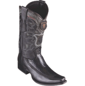 Men's Los Altos Teju Lizard & Deer Boots European Square Toe