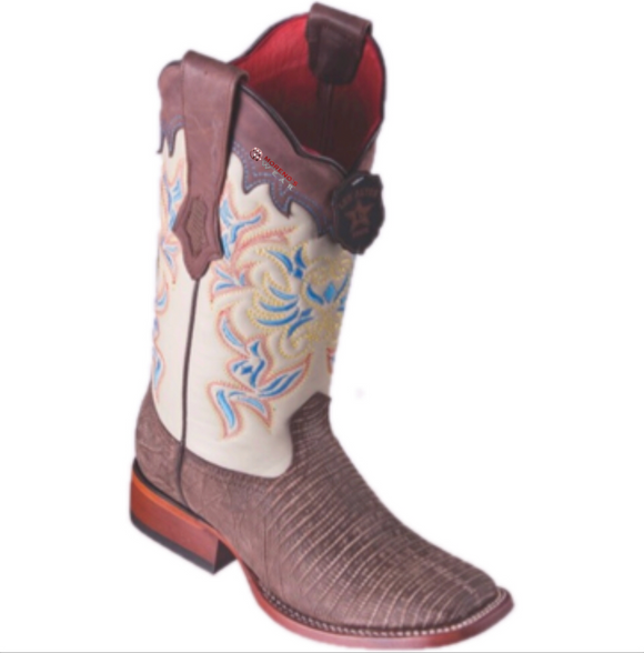 Women's Los Altos Teju Lizard Boots Wide Square Toe