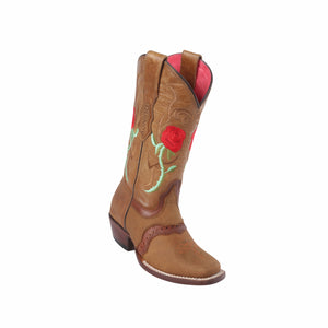 Women's Quincy Honey Rose Boots Square Toe