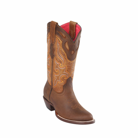 Women's Quincy Leather Boots Round Toe