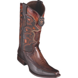 Men's Los Altos Ostrich Leg & Deer Boots European Square Toe