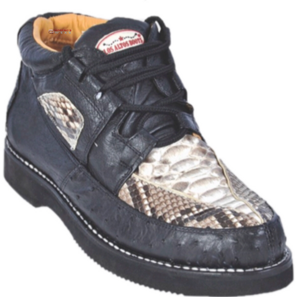 Men's Los Altos Python With Ostrich Casual Shoes