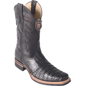 Men's Los Altos Caiman Belly Boots With Saddle Square Toe