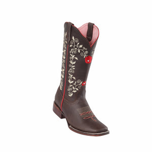 Women's Quincy Grasso Rose Boots Square Toe