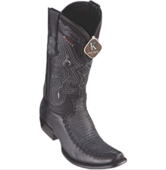 Men's King Exotic Teju Lizard & Deer Boots Dubai Toe