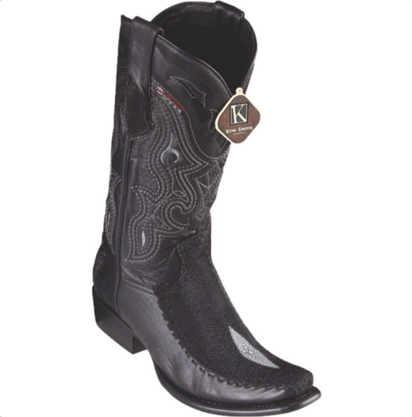Men's King Exotic Stingray & Deer Boots Dubai Toe