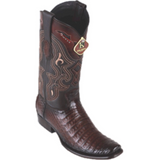 Men's King Exotic Caiman Belly Boots Dubai Toe